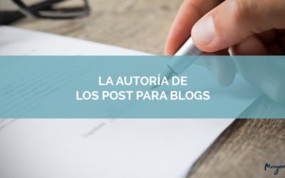La autoría de un post de blog es del autor, no de quien paga por él
